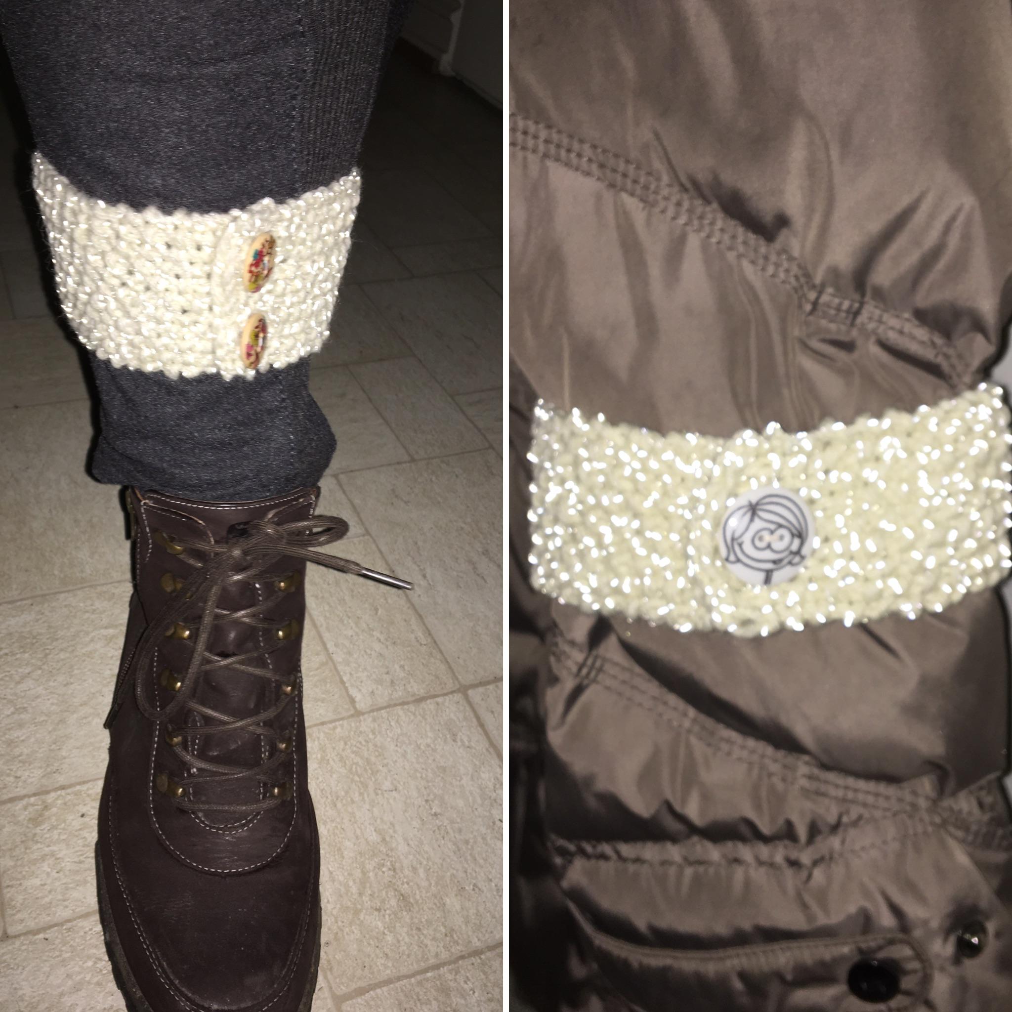 Bli sett i mørket med strikket refleksbånd!